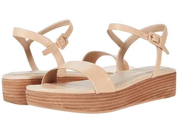 ABLE Larissa Platform Sandal (Veg Tan
