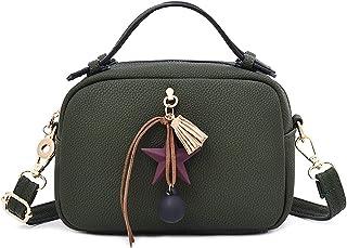 ショルダーバッグのPUレザーペンダントの女の人クロスボディのメッセンジャーバッグ,緑
