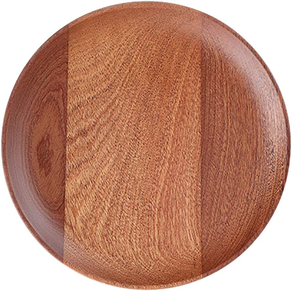 Nileco Round Popular Wooden Serving Tray Tea Mul Lighweight Stylish OFFicial store