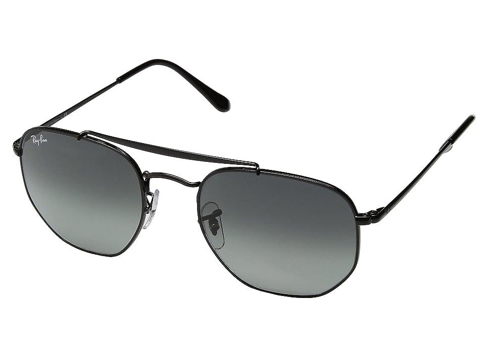 Ray-Ban RB3648 Marshall 54mm (Black/Grey Gradient) Fashion Sunglasses