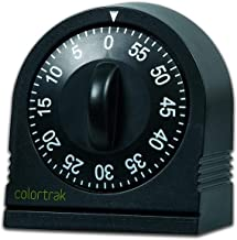 Colortrak 60 Minute Wind Up Timer, Easy To Operate, Set for Short Time, Sets From 0 to 60 Minutes, For Hair Color Processi...