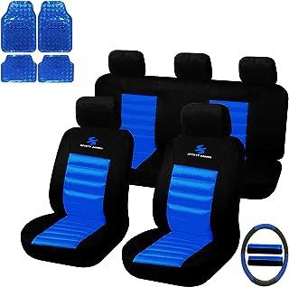 eSituro Universal Sitzbezüge für Auto Schonbezug mit 4 teillige Fußmatten SCMS0035 X
