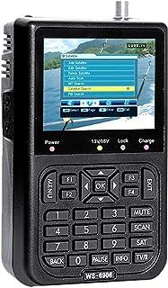 ZHITING-WS6906 Buscador satelital, Medidor de señal Digital de Datos de Pantalla LCD de 3.5 Pulgadas con Bolsa Protectora...