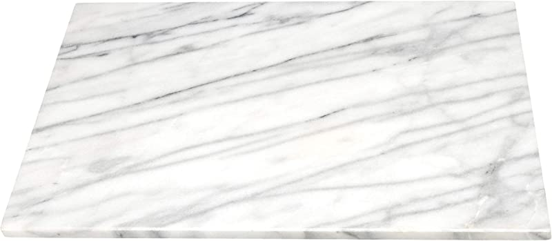 Creative Home 16 By 20 By 3 4 Inch Marble Pastry Board White