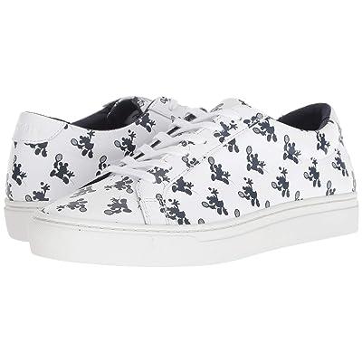 Lacoste Kids L.12.12 (Little Kid/Big Kid) (Disney White/Navy) Kids Shoes