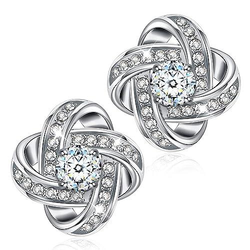 Boucles d`Oreilles Dormeuse Zirconium Coeur Rose Original Mariage Cadeau EE 4