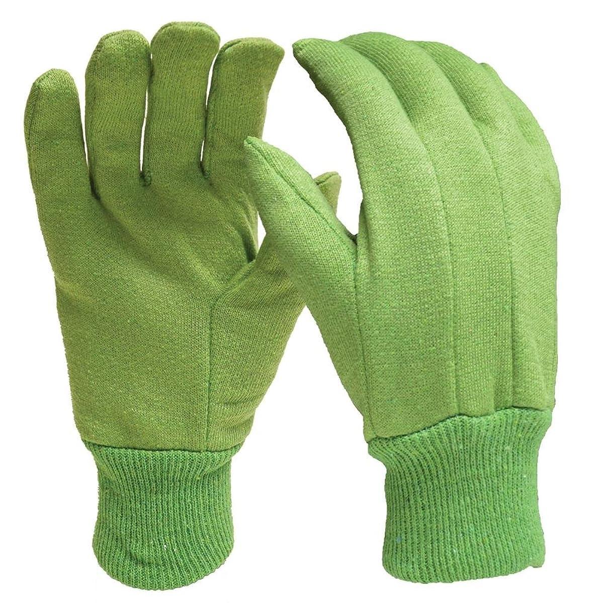 DIGZ (3X 3-Packs) - Gardening Cotton Jersey Gloves (9 Pairs Total)