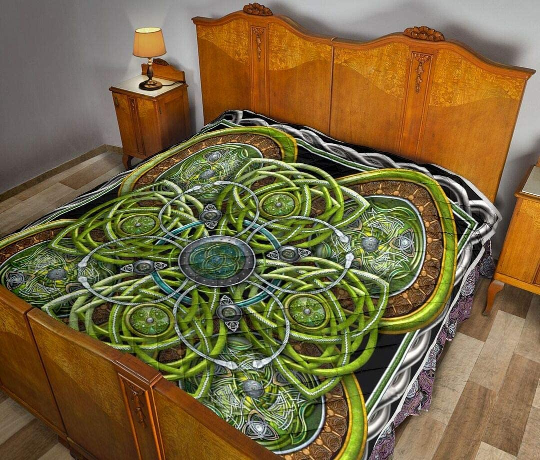 Personalized Irish Celtic Large special price Recommendation 3D Quilt Gift for S Your Lovers
