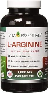 Vita Essentials L-arginine 1000 Mg Tablets, 240 Count