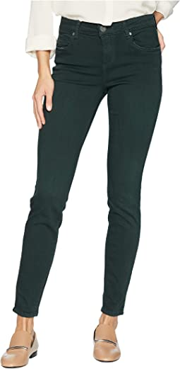 Mia Toothpick Ankle Skinny Jeans in Hunter Green