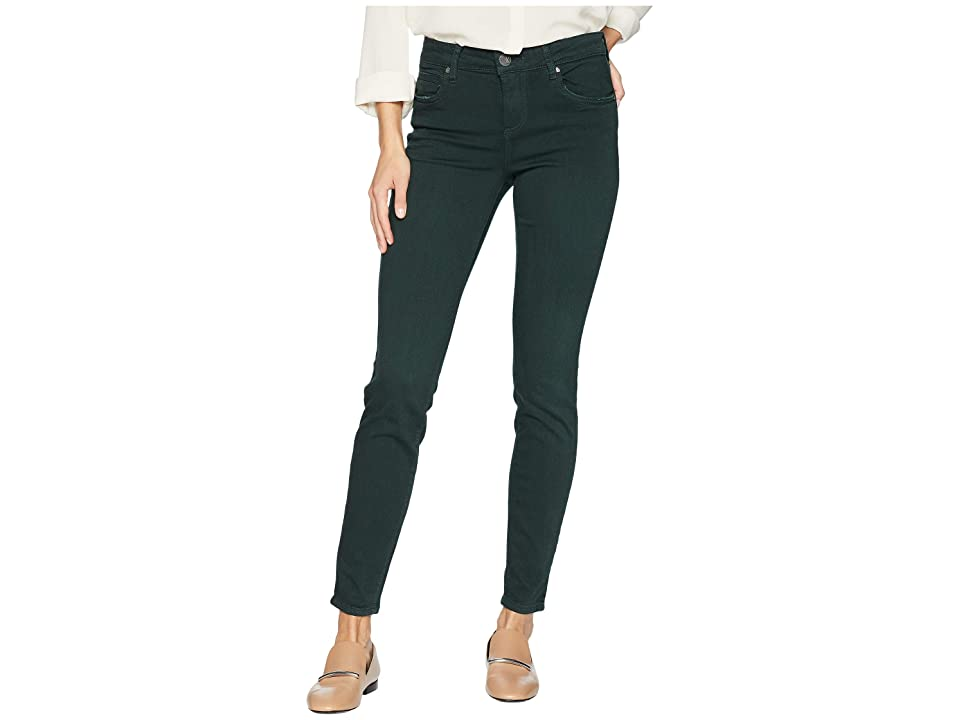 KUT from the Kloth Mia Toothpick Ankle Skinny Jeans in Hunter Green (Hunter Green) Women