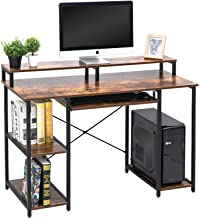 TOPSKY Computer Desk with Storage Shelves/Keyboard Tray/Monitor Stand Study Table for..