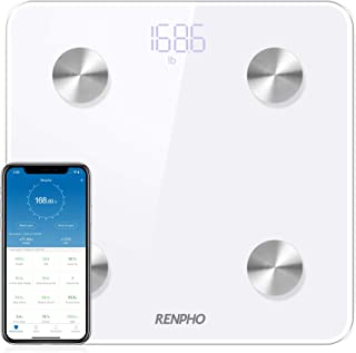 RENPHO Bluetooth Body Fat Scale Smart Digital Bathroom Weight BMI Scale Body Composition Monitor Analyzer with Smartphone ...