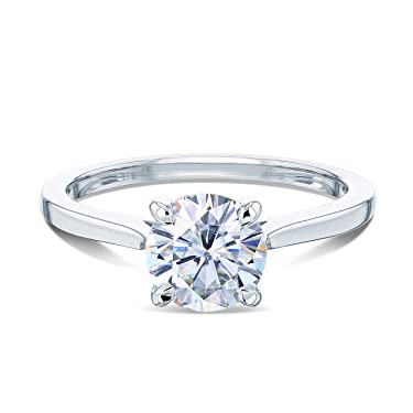 Kobelli 1ct Round Diamond Solitaire Ring 14K Gold