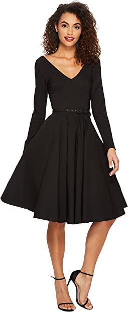 Unique Vintage - Long Sleeve Maude Swing Dress