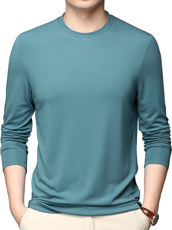 LZJDS Mens Long Sleeve Thermal Baselayer Top - Lightweight Jumper Warm Quick Drying Sweatshirt - Great for Winter,Green,XL