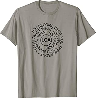 Law Attraction Tshirt Manifest Empower Inspiration Quotes