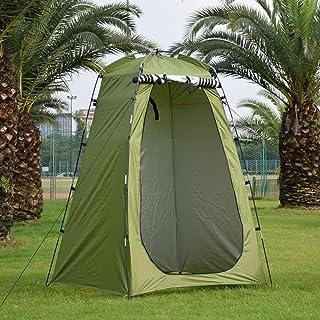 Dubbla lager vattentäta anti-UV turisttält vattentäta byte passande rum anti-UV utomhus camping dusch badtält