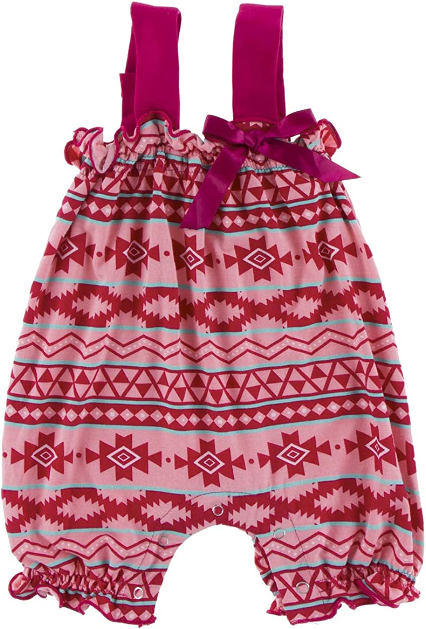 KicKee Kansas City Mall Excellence Pants Little Girls Solid Gathered with Contrast Bo Romper