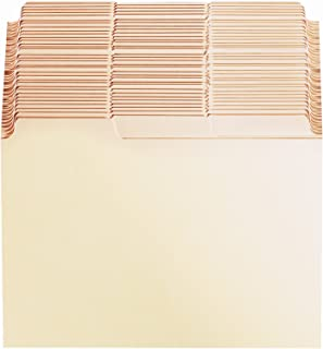 Oxford Index Card Guides with Blank Tabs, 6-Inch x 4-Inch, Manila, Pack of 100 - B643