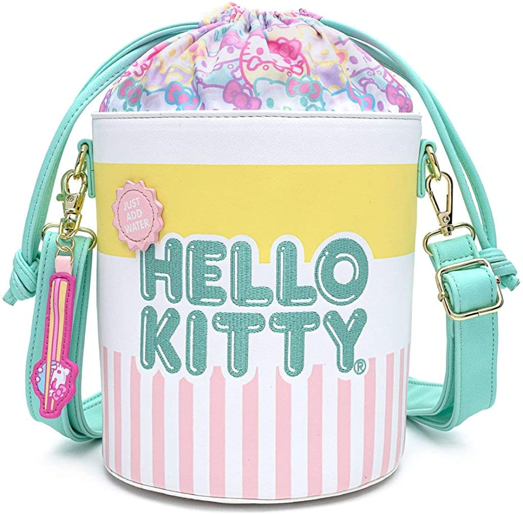 Loungefly x Hello Kitty Cup O' Kitty Crossbody Bucket Bag