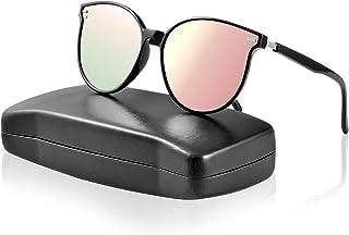 5bcd227079 IPOW - Gafas de sol polarizadas para hombres y mujeres, con lentes  espejadas, protector