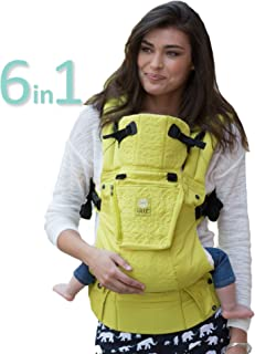 LÍLLÉbaby The Complete Embossed SIX-Position 360° Ergonomic Baby & Child Carrier, Citrus - Cotton Baby Carrier, Ergonomic Multi-Position Carrying for Infants Babies Toddlers