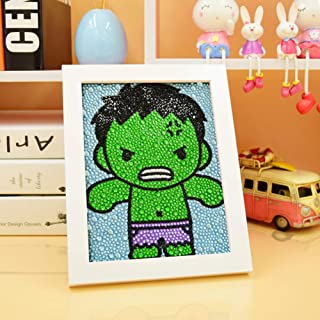 MYSNKU DIY Diamond Painting for Kids Full Drill Painting by Number Kits Arts Crafts Shimmer and Shine Sparkle Mosaics Sticker for Home Wall Decor Gifts for Christmas Birthday (Hulk)