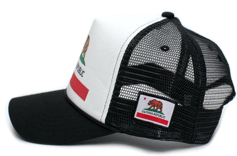Custom California Republic State Flag Cali Unisex-Adult Trucker Hat Multi