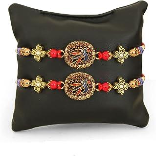 TIED RIBBONS Set of 3 Rakshabandan Rakhi with Mini Rakshabandhan Wishes Card - Rakhi Bracelet for Brother- Designer Rakhi ...
