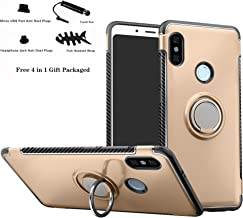 Labanema Xiaomi Redmi Note 5 case, Hybrid Dual Layer 360 Degree Rotation Ring Holder Kickstand Armor Slim Protective Cover Case for Redmi Note 5 / Redmi Note 5 Pro - Gold