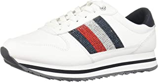 TOMMY HILFIGER Retro Crystal Sneaker Womens Fashion Trainers