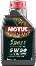 Motul 103048 Sport 5w50 1 Liter, 1 Large, 1 Pack, 33.81 Fluid_Ounces