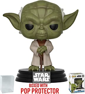 Funko Pop! Star Wars: Clone Wars - Yoda Vinyl Figure (Bundled Pop Box Protector Case)
