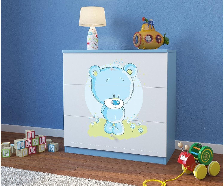 Ahorre hasta un 70% de descuento. CocheELLIA cómoda Infantil Infantil Infantil Oso Azul 3cajones Azul  barato y de moda
