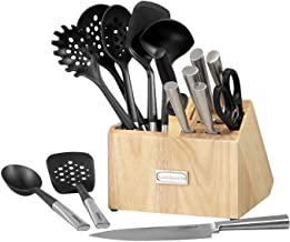 Cuisinart CTG-00-CB16 Cutlery and Tool Block Set, 16 PC, Black/Silver