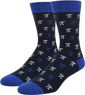 Men's Novelty Funny School Book Math Crew Socks, Gift for Nerd Genius Teacher