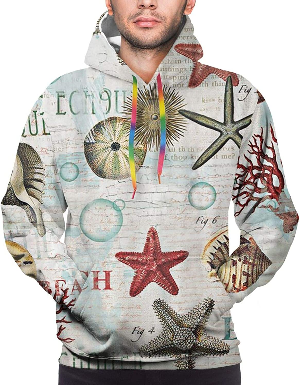 Hoodie For Mens Womens Teens Beach Seafish Shell Hoodies Outdoor Sports Sweater