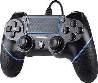 Zexrow Wired Controller per PS4, Wired Game Controller per PlayStation4/Pro/Slim/PC, Gamepad con doppia vibrazione, impugn...