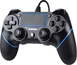 Zexrow Wired Controller per PS4, Wired Game Controller per PlayStation4/Pro/Slim/PC, Gamepad con doppia vibrazione, impugn...