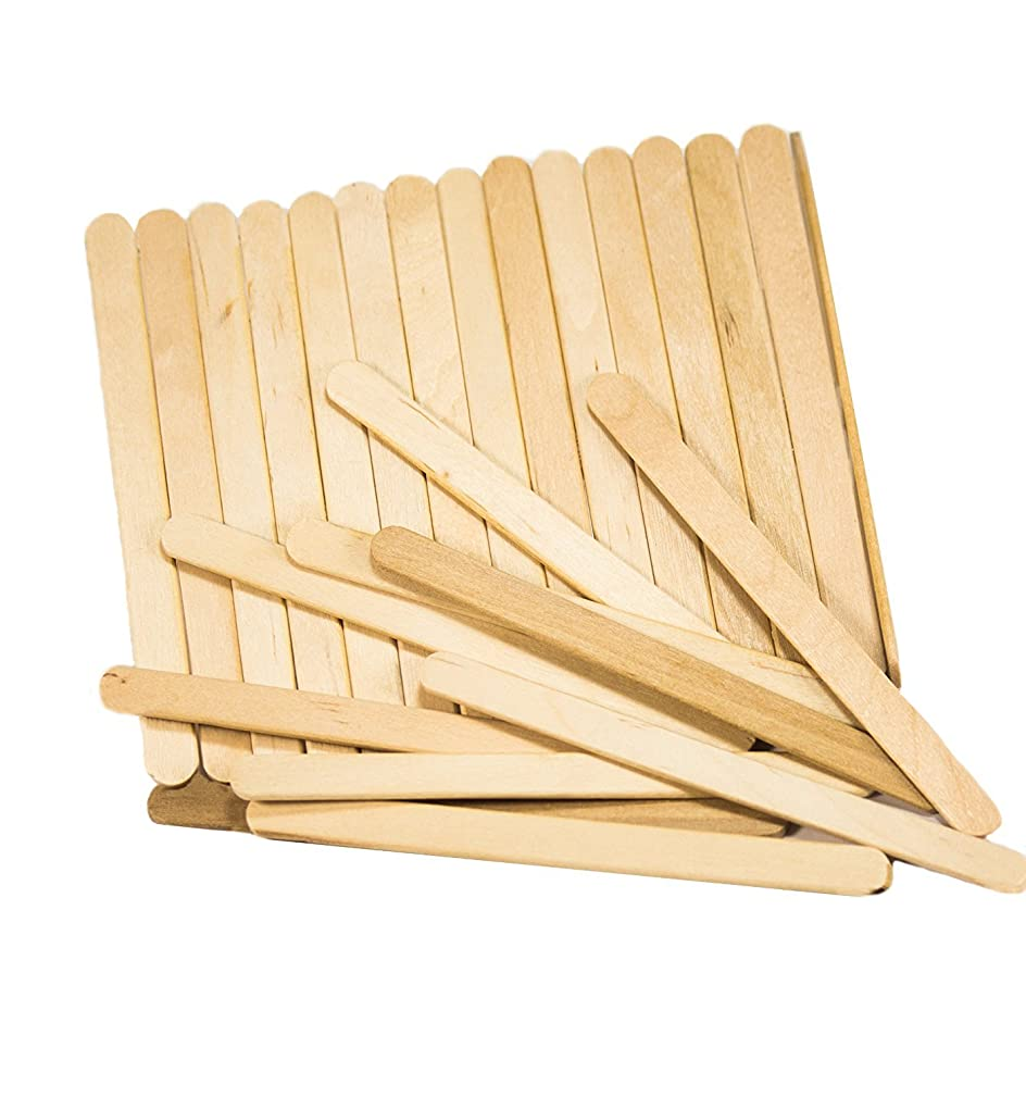 2Pack(100pcs) Wooden Craft/Ice Cream Sticks - Ideal for Ice Cream,Crafters, and Students(Wood)