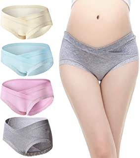Slimart 4 PCS Cotton Maternity Pregnant Mother Panties Lingerie Briefs Underpants Underwear