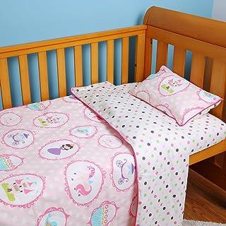 I Baby Parures De Lit Bébé Enfant Fille 100% Coton Linge De Lit 4