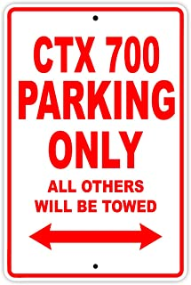 HONDA CTX 700 Parking Only All Others Will Be Towed Motorcycle Bike Novelty Garage Aluminum 8