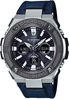 GSHOCK Men's Solar Powered Wrist Watch analog-digital Display and Leather Strap, GSTS330AC-2A