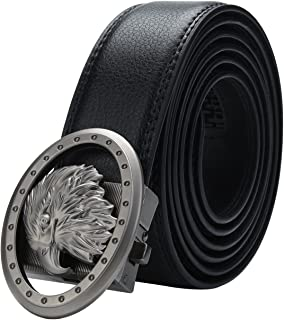 Men's Leather Ratchet Click Belt - Trim to Perfect Fit from 30