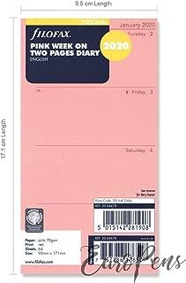Filofax - Semana personal en dos páginas, color rosa inglés 2020 (20-68478)
