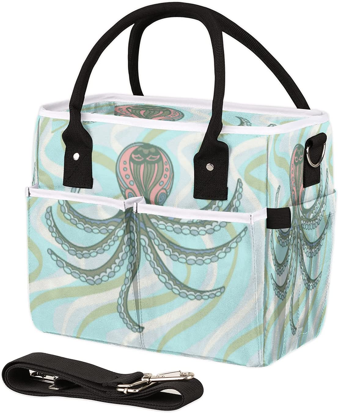 Insulated Lunch OFFicial shop Bag for Women Men Stripe La Sea Max 56% OFF Octopus Reusable