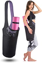 Zenifit Yoga Mat Bag - Long Tote with Pockets - Holds More Yoga Accessories. Cute Yoga Mat Holder with Bonus Yoga Mat Stra...