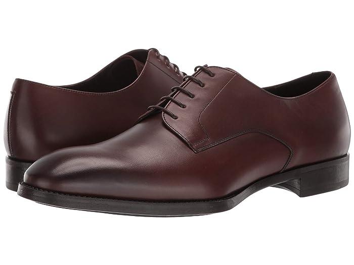 Giorgio Armani Plain Toe Oxford (Brown) Men's Shoes